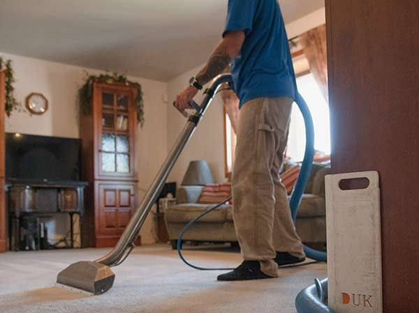 Dry passes from carpet cleaner